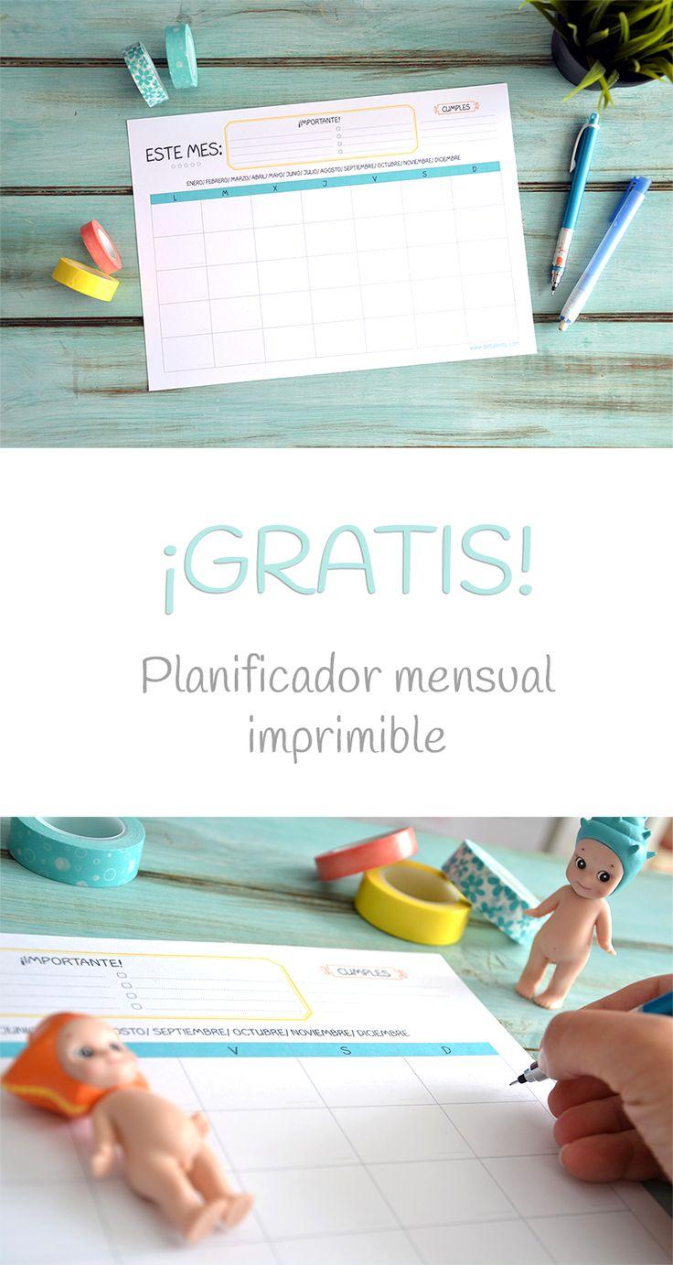 Regalo de Detallinos: Planificador/ organizador mensual ¡Gratis!   #papelería…
