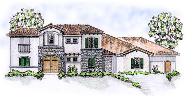 Florida Mediterranean House Plan 56549 House Plans 3