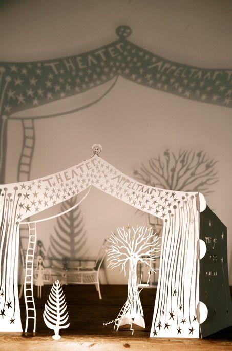 Papercut theatre by Guusje Wannet, of Guusje's Appeltaart