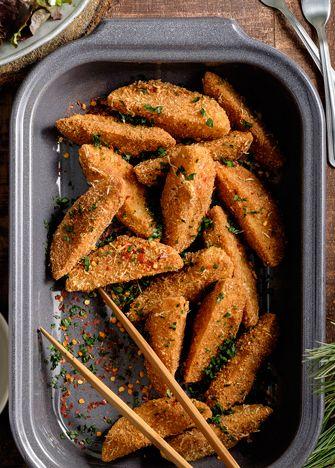 Receta completa para preparar deliciosas papas gajo picositas. ¿Ya las probaste? Apunta la receta, no te vas a arrepentir. www.cocinavital.mx