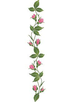 Розовый бордюр (художественный трафарет)