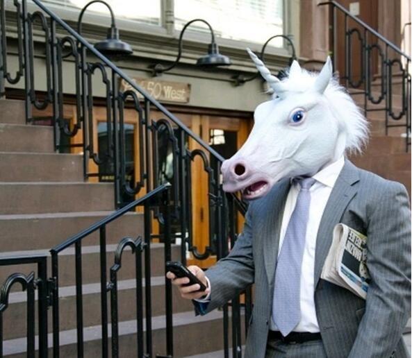 Fashion Cool Unicorn Horse Head Mask Halloween Costume Party Masks Prop Novelty Latex Rubber Creepy