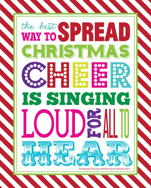 the life and designs of the spotted olive™: {free printable} spread christmas cheer quote subway art freebie