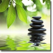 Stack of Stones AS, Original art on canvas from http://www.thecanvasartfactory ships worldwide!  #art #stones #spirituality #calm #peace #focus #black #nature #green #photography #home #decor #wallart