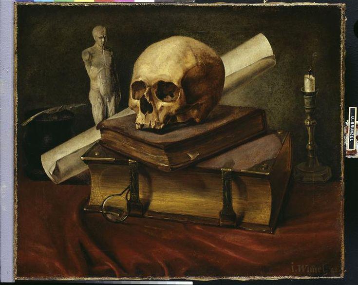 wimmel johannes 1823 1892 nature morte vanit peinture 1842 vanit s danses macabres. Black Bedroom Furniture Sets. Home Design Ideas
