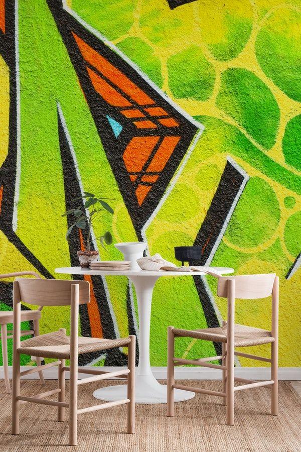 Green Graffiti Wall Mural Graffiti Wall Murals Pinterest Wall