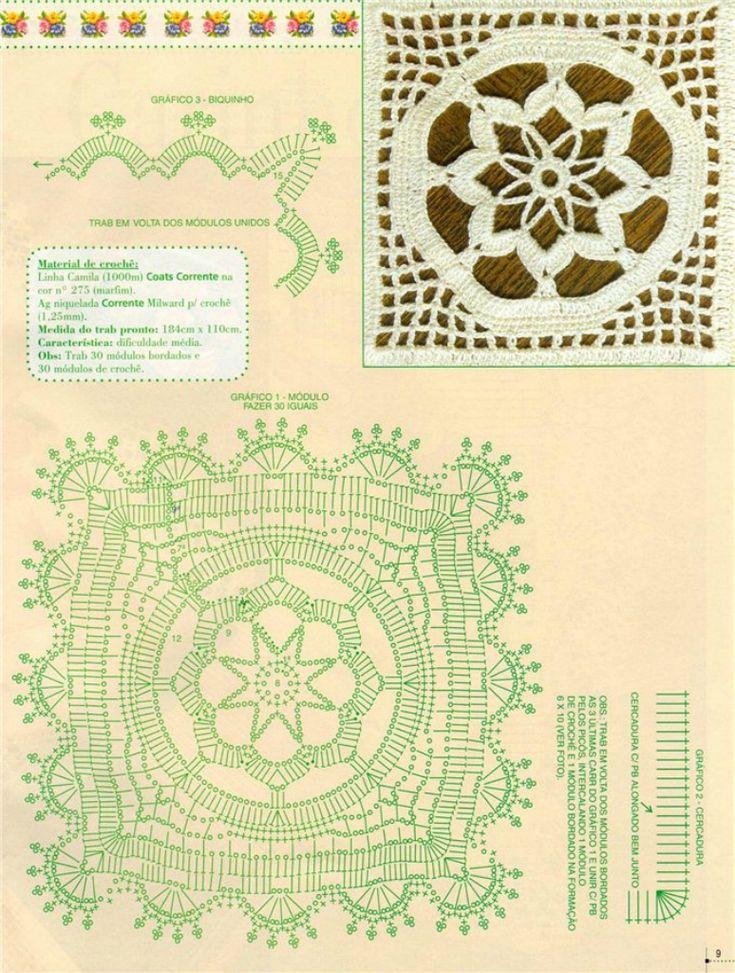 Crochet Knitting Handicraft: Crochet overlap with cloth