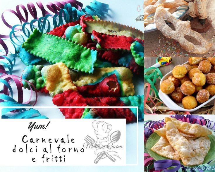 Carnevale+dolci+al+forno+e+fritti