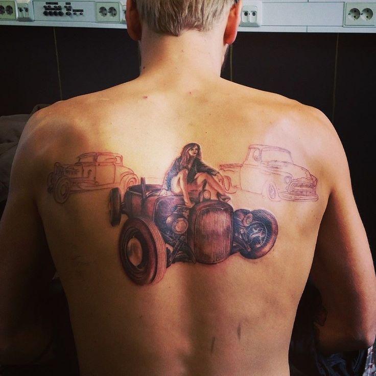 Hot rod tattoo in progres..