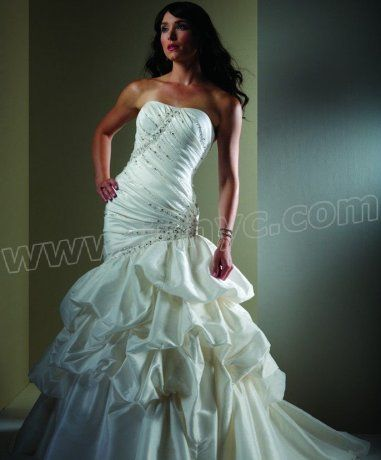 Asymmetrical Bodice Mermaid Wedding Dress