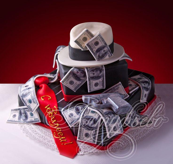 Подарочный торт мужчине большой куш № 305