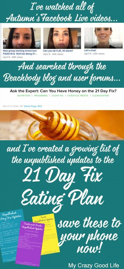 Struggling to find the Unpublished 21 Day Fix foods list updates? I've searched the YouTube videos, the Facebook Live videos, and the blogs to bring it to you.