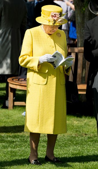 Queen Elizabeth II attends Derby day at Epsom Derby festival at Epsom Downs on June 3, 2017 in Epsom, England.