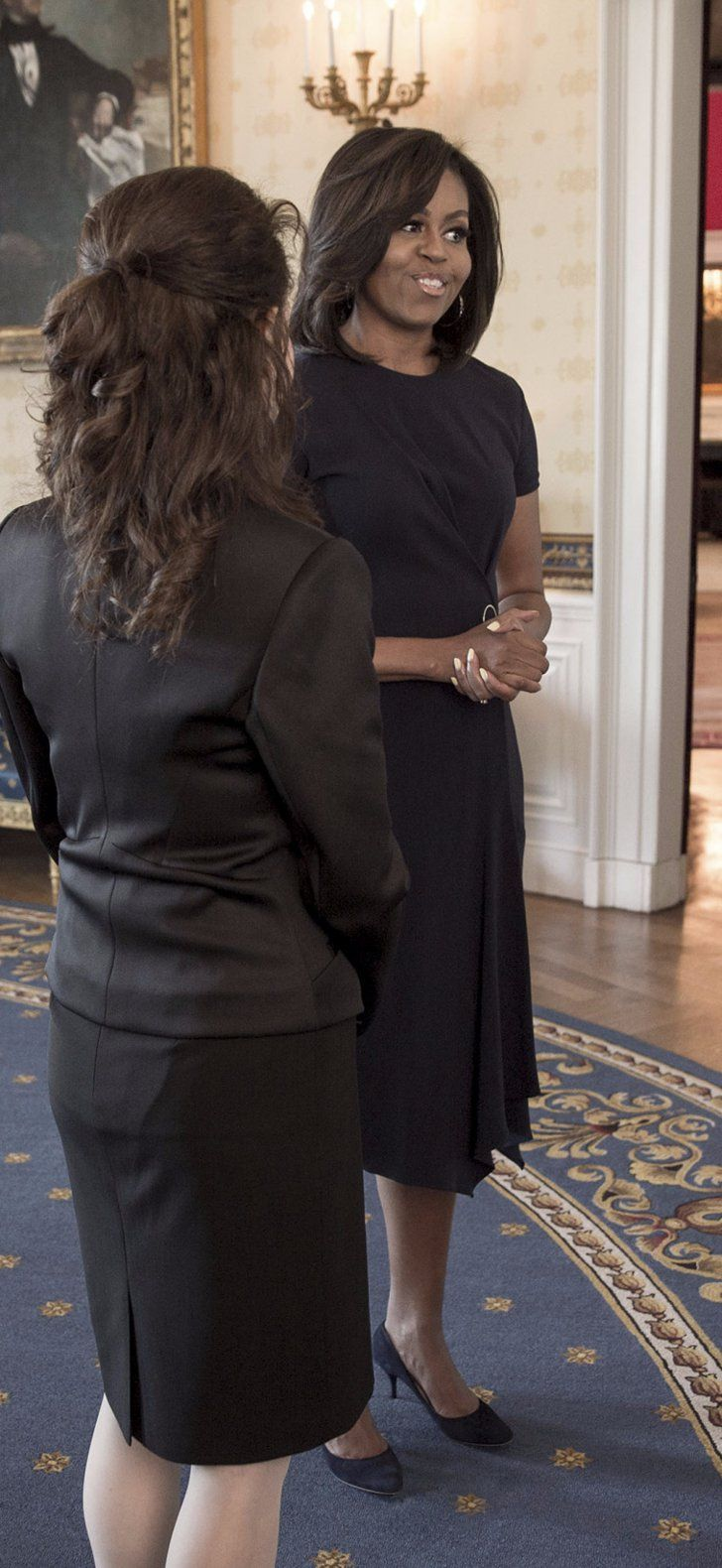 Michelle Obama's NCIS Dress Proves She Has What It Takes to Become a True TV Star