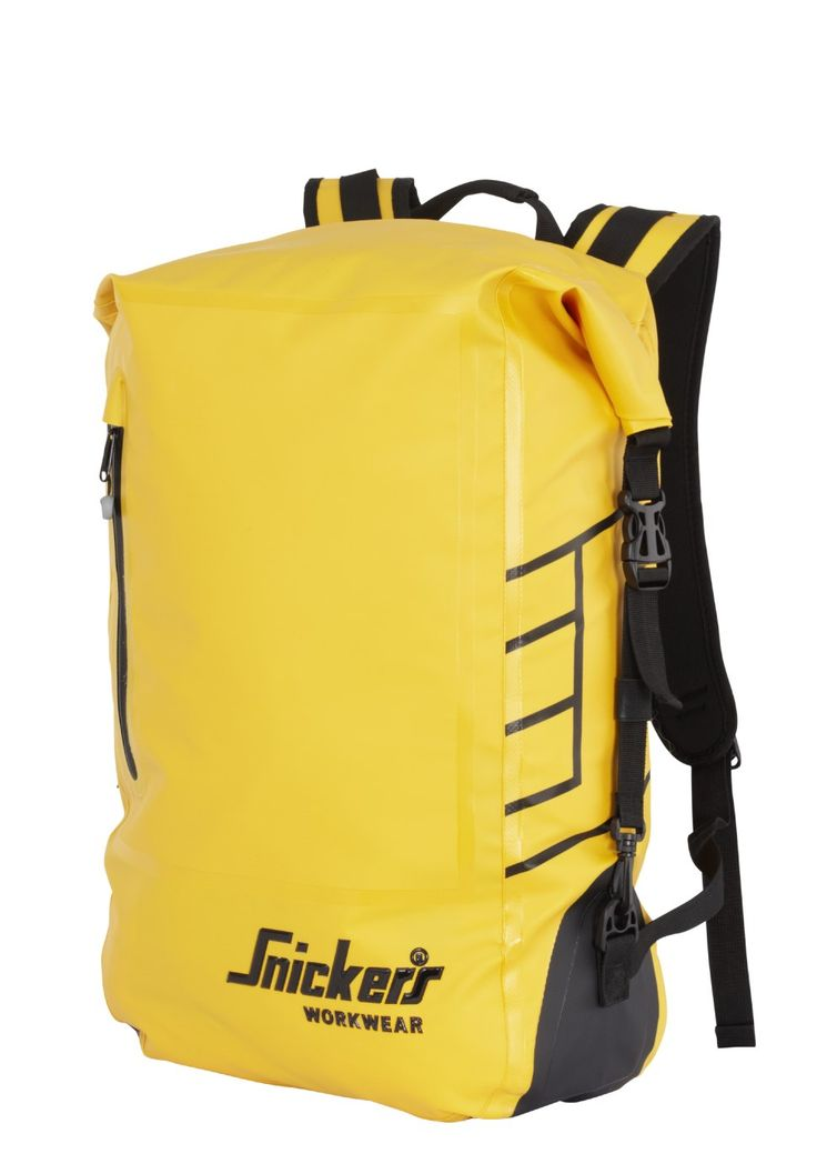 High-tech and hard-wearing 100% #waterproof #backpack for dry and clean storage of spare clothes when you're on the move. Freeing your hands for better things. Available in yellow and grey. - Snickers Workwear Artnr. 9610