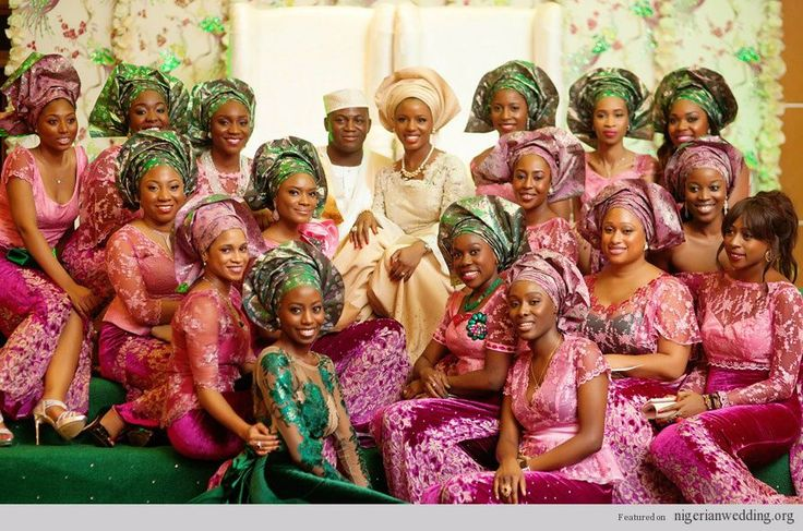Nigerian Traditional Engagement Trend Alert: Mismatch Aso-Oke & Damask For Groom, Lace Blouse, Iro & Buba For Brides And Velvet Embroidery Iro & French Lace For The Ore-Iyawo   Nigerian Wedding