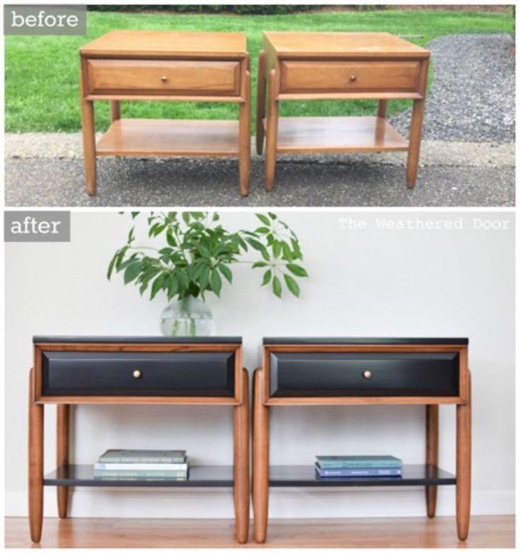 67 Furniture Makeovers That'll Totally Inspire You: Nightstand makeover from The Weathered Door