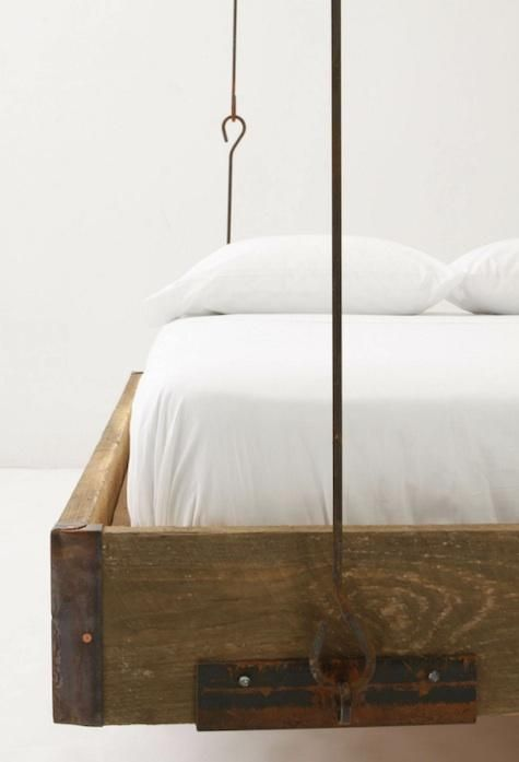 Furniture Barnwood Hanging Bed From Anthropologie