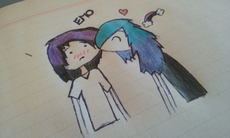 Hello! I love draws and I love drawings! #EMO #cute