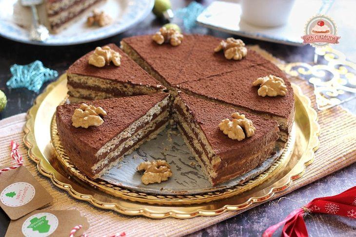 Csokoládés birskrémes linzertorta gluténmentesen
