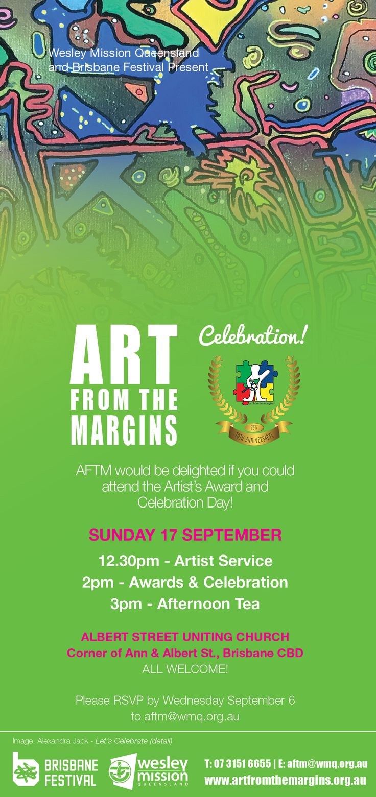 Art from the Margins celebrates 10 years this year! Come along and join in the celebrations.