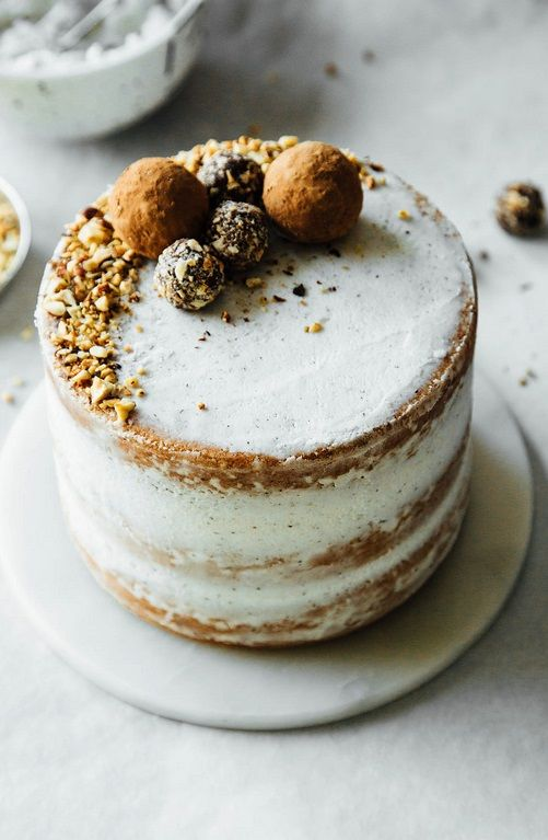 hazelnut crunch cake.