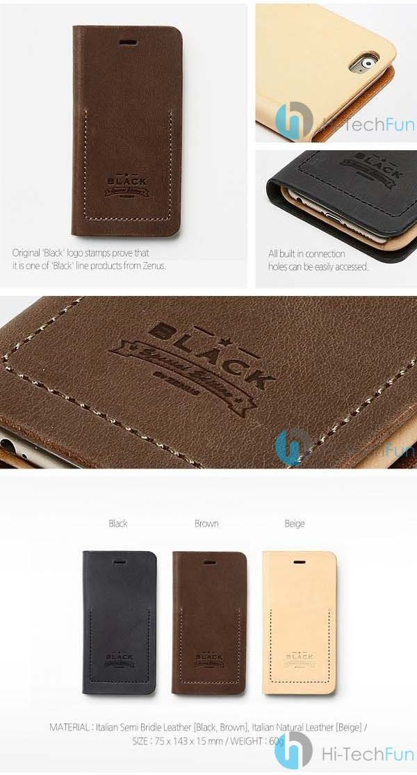 Bao da iPhone 6 Zenus BLACK Tesoro Diary http://hitechfun.vn/bao-da-iphone-6-zenus-black-tesoro-diary