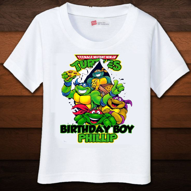 97 best tmnt party ideas images on pinterest for Where can i buy ninja turtle shirts