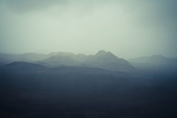 "Iceland photography, Landscape, Art print, Mysterious atmosphere, Nordic desert, Mount Hekla, Volcano, Scandinavia, 12"" x 8"", 30 cm x 20 cm"