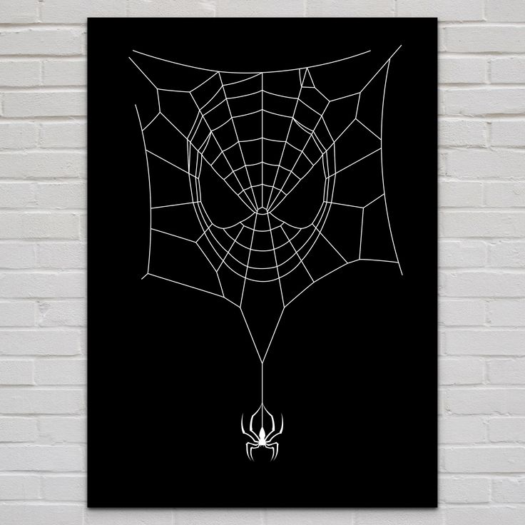 SPIDERWEB Metal Poster @ http://displate.com/displate/84929/spiderman-spider-spiderweb-cobweb-mask-vector-superhero