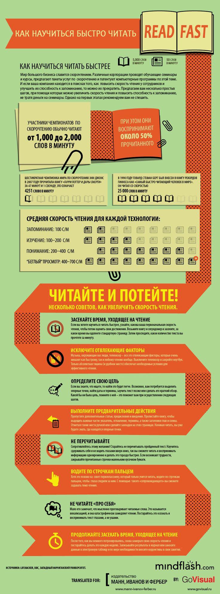 Как научится быстро читать. #infographics #internetmarketing #infographicsrus