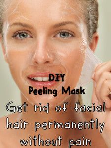 Get rid of facial hair permanently without pain