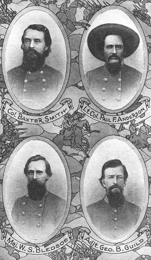 American Civil War -                                                      4th Tennessee Cavalry Field and Staff.