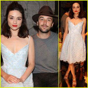 Crystal Reed & Boyfriend Darren McMullen Cuddle Up at Australia Fashion Week