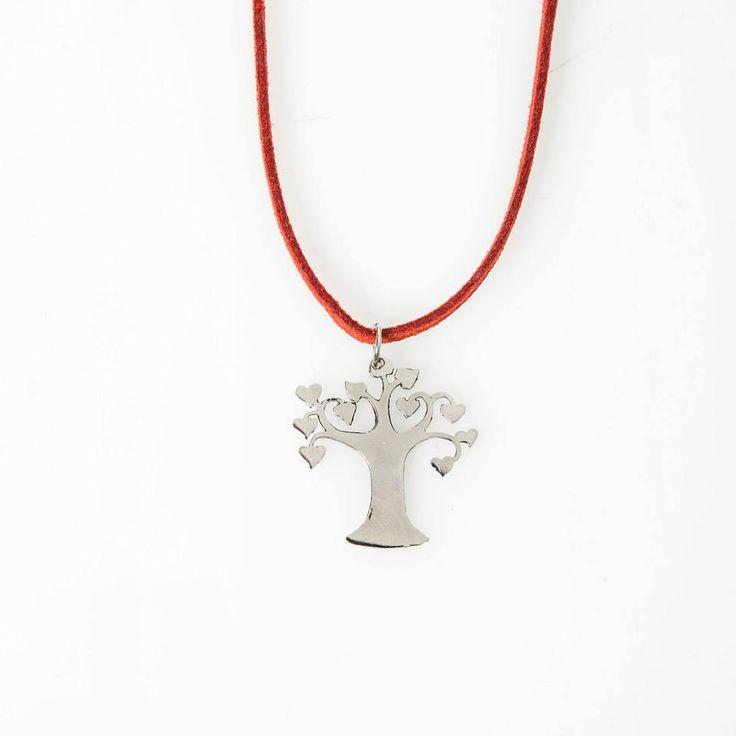Lasercut jewellery from www.tintown.co.za - Lovetree Pendant