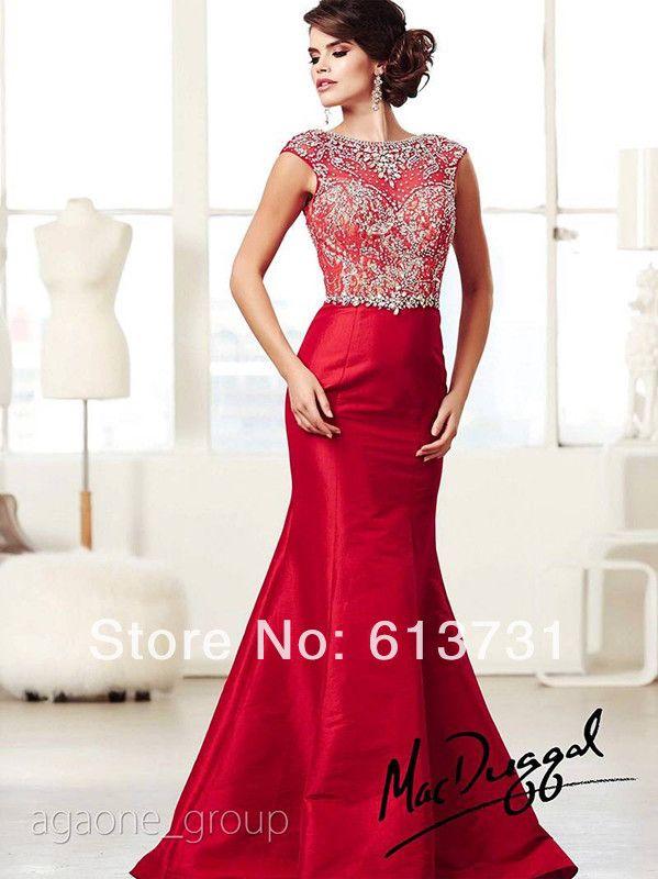 Cap sleeve long dress 90676 red eye