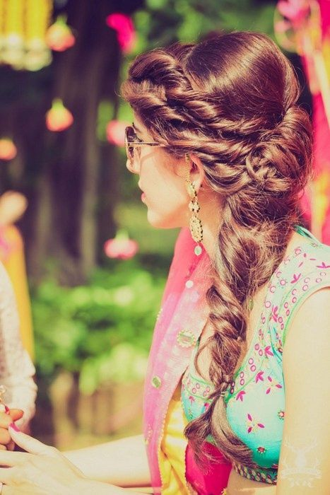 The Double-Strand Braid. To see more: http://www.functionmania.com/blog/braided-hair-looks-weve-loved-real-indian-brides/