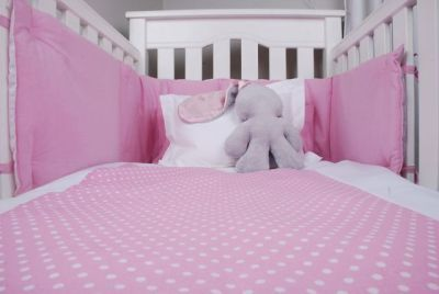 Tom & Bella Cot Duvet Cover And Baby Pillowcase Set - Pink Spots:
