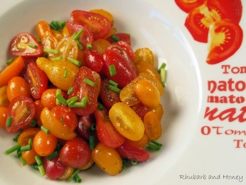 Cherry Tomato Salad: Tomatoes Time, Salad Recipes, Cherry Tomato Salad, Cherries Tomatoes Salad, Cherry Tomatoes, Cooking, Drinks, Simple Cherries, Delicious Food