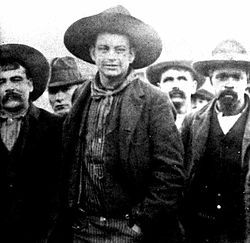 "Crawford Goldsby (February 8, 1876 – March 17, 1896) was a 19th-century American outlaw, known by the alias Cherokee Bill. Responsible for the murders of seven men (including his brother-in-law), he and his gang terrorized the Indian Territory for over two years. Goldsby was said to be ""one of the roughest, toughest, meanest outlaws of the Old West"""