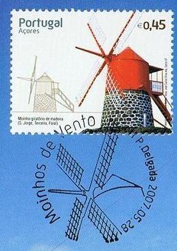 Marcas e Selos Personalizados de Portugal: Moinhos de Vento - Açores