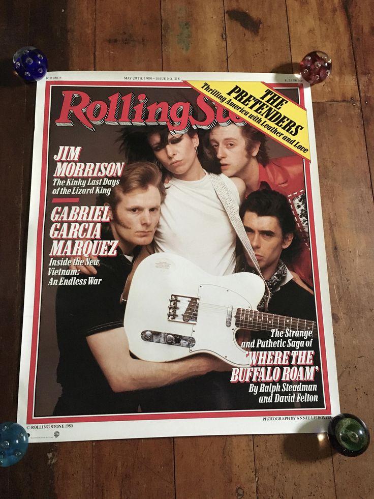 The Pretenders Rolling Stone Magazine Sire Records 1980 Original Rare Vintage Music Poster by RockPostersTreasures on Etsy