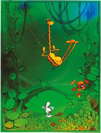Swinging Giraffe, Mordillo