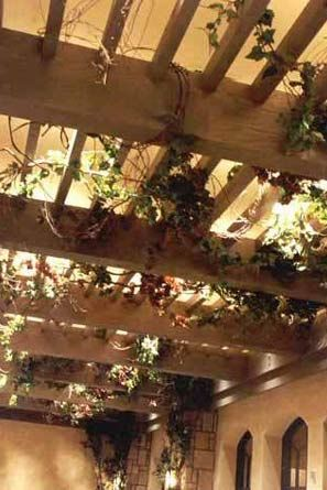 artificial wisteria vine on arbor | Grape leaf ivy & wood ...