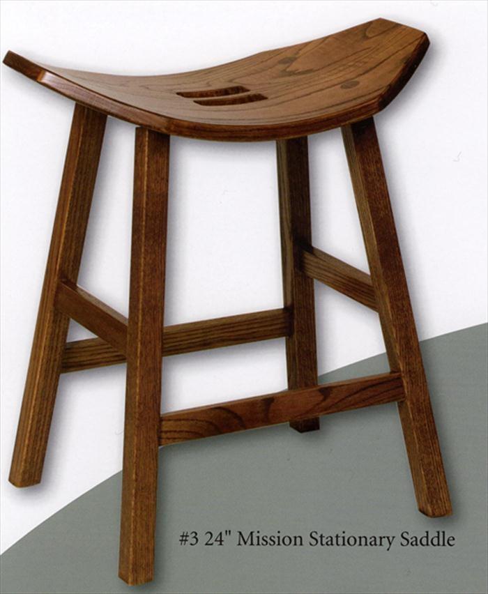 Exceptional Amish Mission Stool Amish Furniture Cherry Saddle Stool
