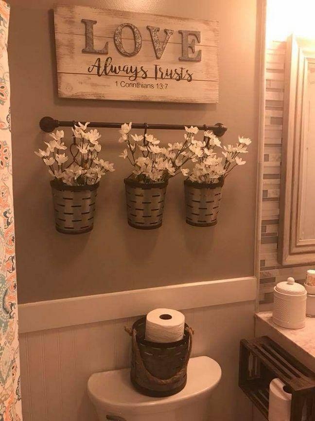 30 Country Bathroom Rustic Farmhouse Decor 82 - Bobayule.com ...