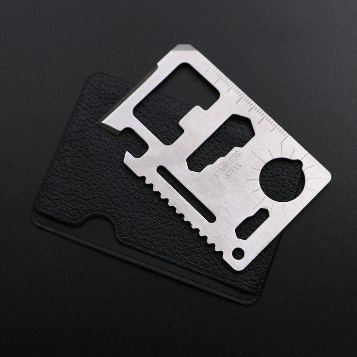 11で1ステンレス鋼のクレジットカード財布ツールサバイバルポケットツール戦術マルチカード多目的ナイフキャンプツール