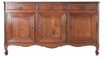 French 19th Century Transitional Louis XV/XVI Fruitwood Enfilade