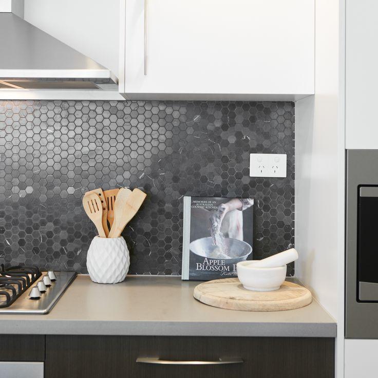 #kitchen #splashback #tiles #grey #utensils #cooking #mealtime