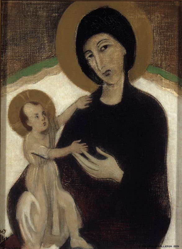 Finnish National Gallery - Helene Schjerfbeck, ,Madonna and Child, after Cimabue, 1932